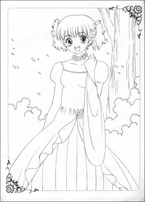 美少女画画填色书-世界精品时装秀(附赠品)