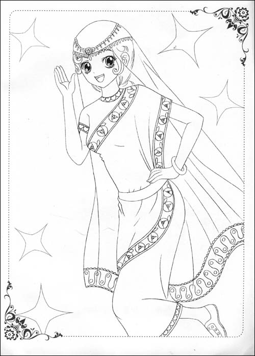 美少女画画填色书世界精品时装秀(附赠品)