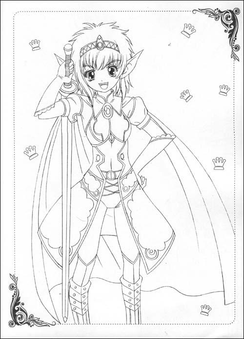 美少女画画填色书:cosplay戏装秀