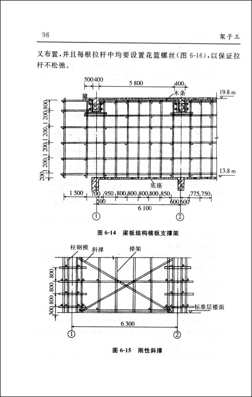 斜屋面电梯吊装钩预埋结构图