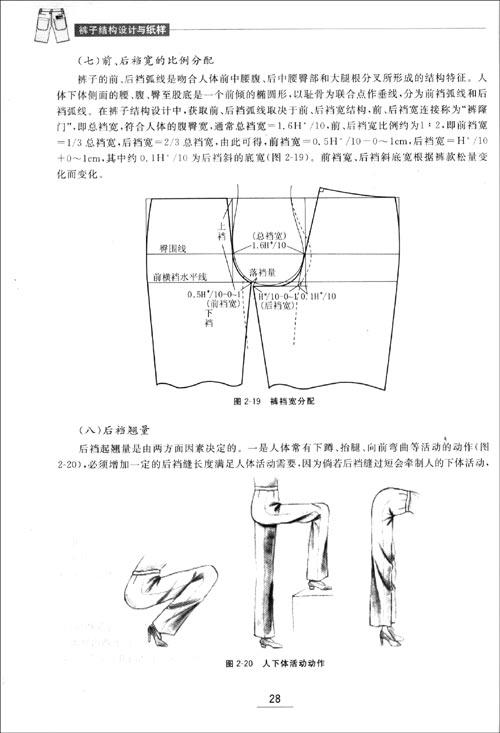 女西裤结构设计与纸样