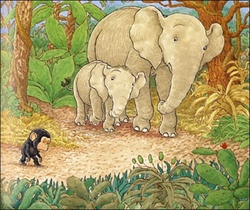 可爱森林动物图画