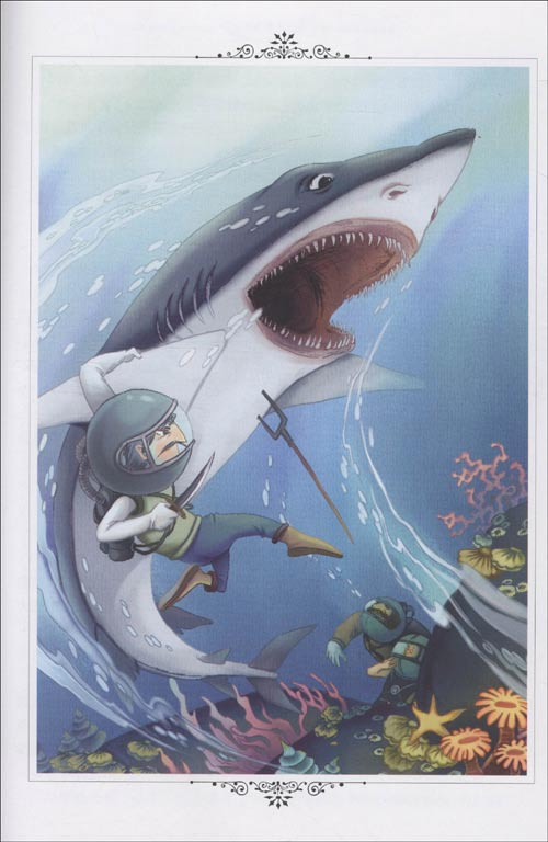 彩手绘鲸鱼