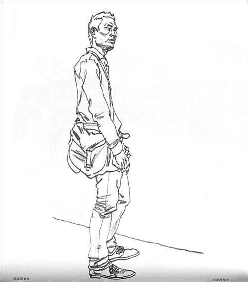 高考速写人物_高考速写人物临摹图