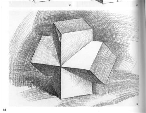 教学视频_组合静物结构素描范本_素描静物组合_静物素描教程 圆柱体