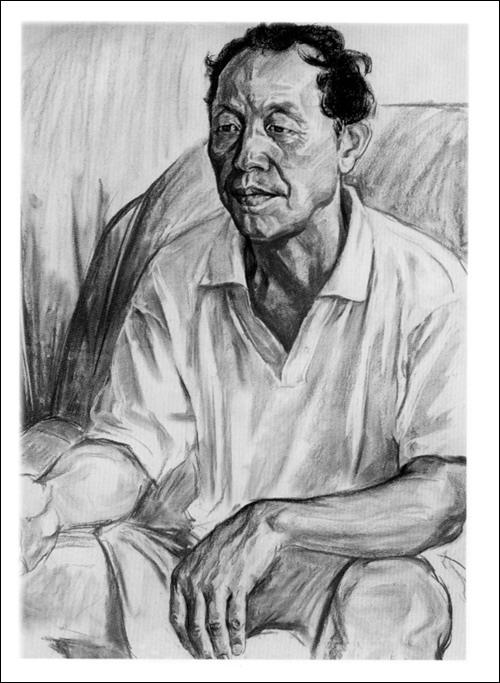 美术高考经典范画袖珍本-素描半身像