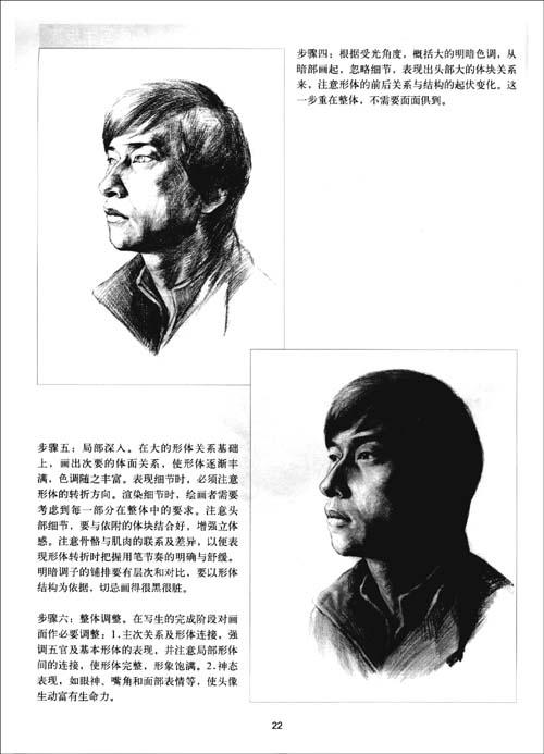 基础素描教程:真人头像(第4册)