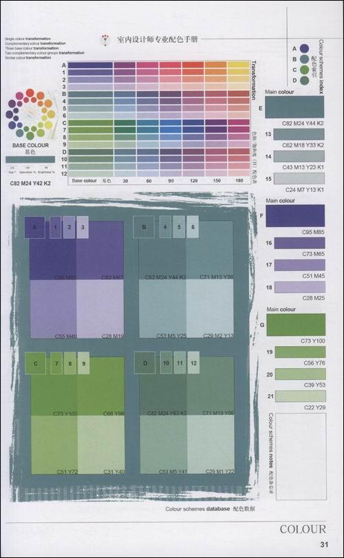 室内设计师专业配色手册:类似色