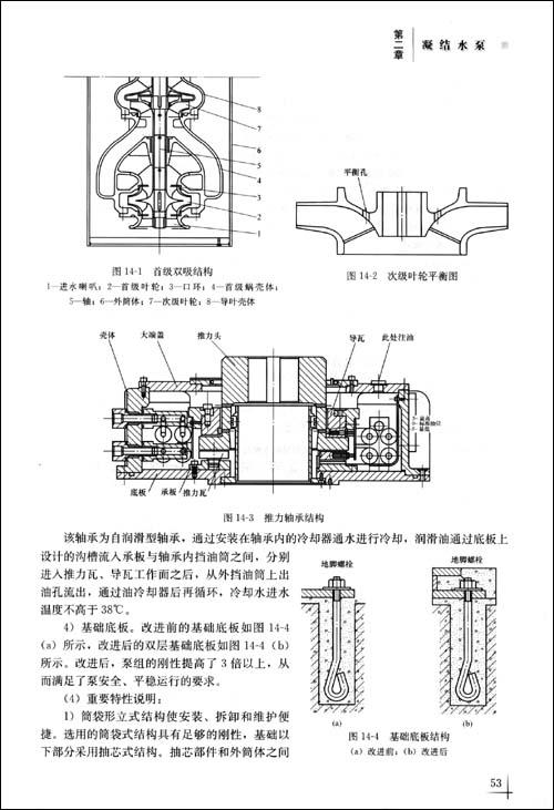 与采用刚性联轴器,主推力轴承布置在电动机顶部的结构设计相比,该结构
