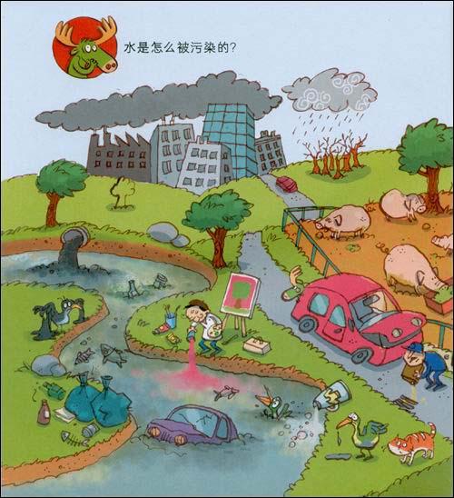 水资源环保手绘插画