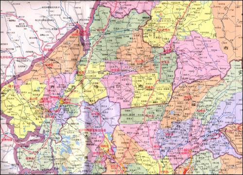 黑龙江省地图