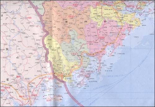 福建省地图 [平装]