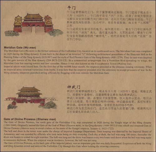 北京手绘旅游地图:故宫
