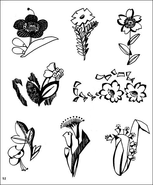 植物黑白装饰画 叶子