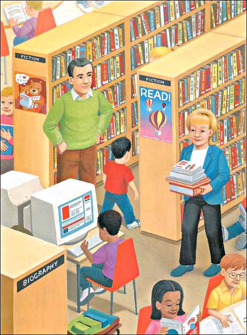 绘本《图书馆老鼠》