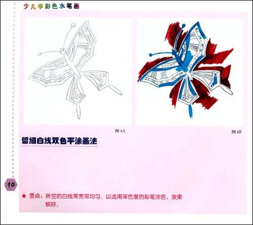 动物花卉人物风景 正版少儿学彩色水笔画