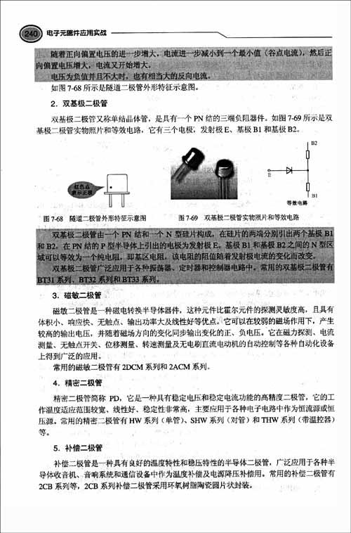 磁敏二极管 磁敏二极管是一种磁电转换半导体器件,这种元件比霍尔元件