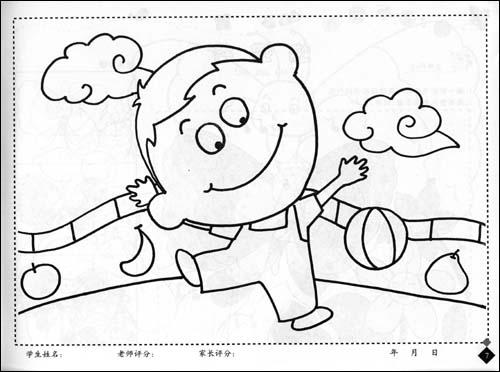 风景简笔画大全,儿童风景简笔画图片,幼儿彩色风景简笔画, 春节灯笼