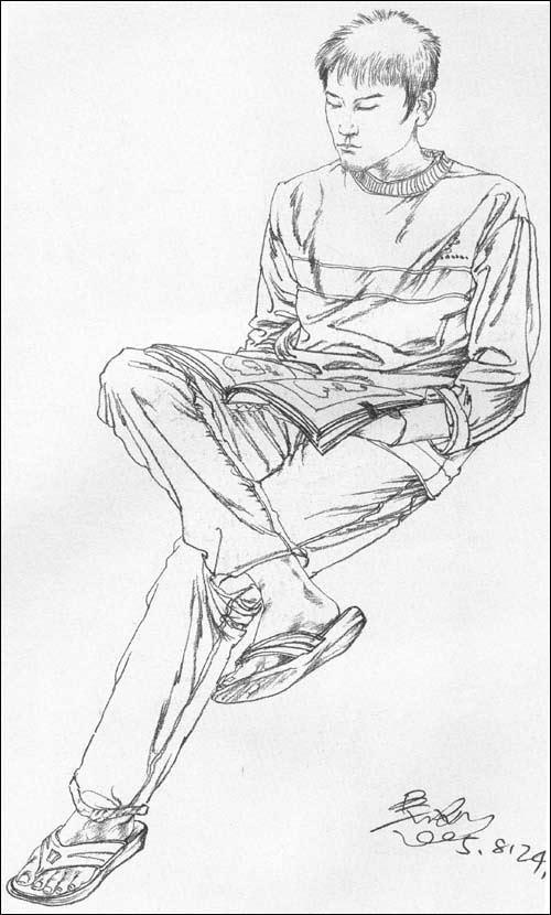 简笔画 手绘 素描 线稿 500_830 竖版 竖屏