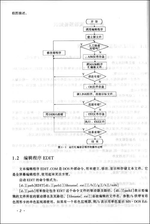 1 运行汇编语言程序的操作过程  1.1.1 建立源程序文件  1.1.