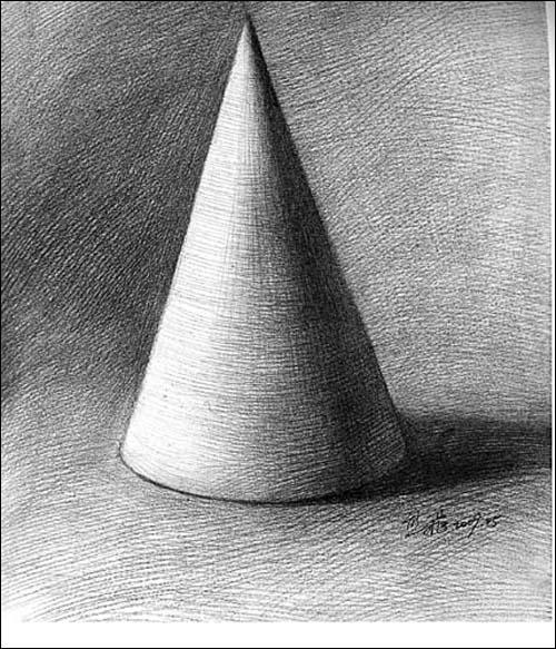 素描的石膏几何体的实像 照片; [商城正版]艺术基础教程①素描/熊飞