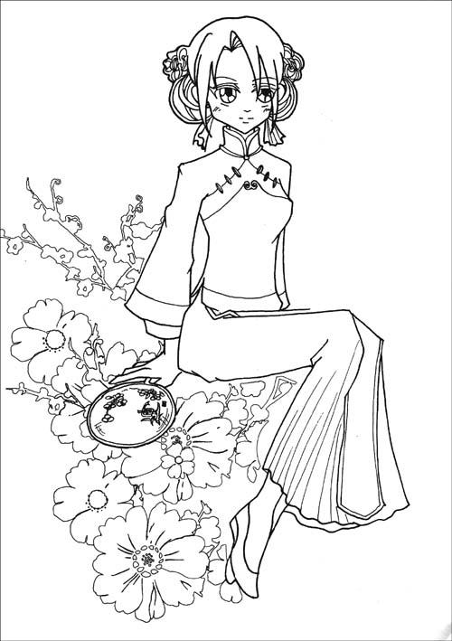 手绘古装公主铅笔画简单