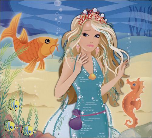 芭比美人鱼公主手抄报