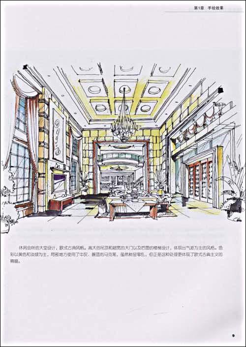室内设计快速手绘图(高职高专设计艺术类专业理实一体