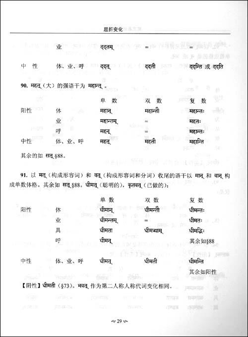梵文基础读本语法•课本•词汇