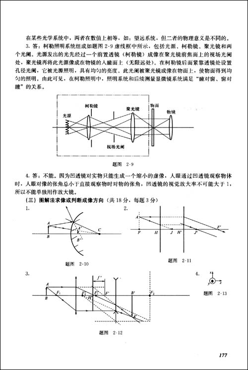 普通高等教育规划教材•工程光学复习指导与习题解答