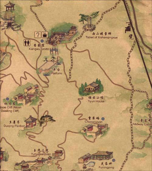 《北京手绘旅游地图:走进香山》