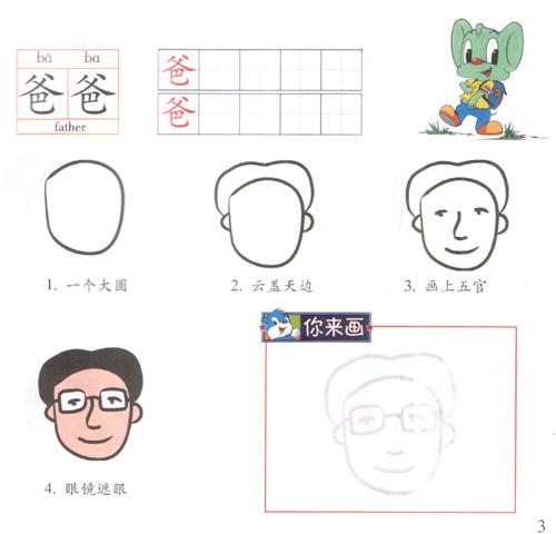 蓝猫儿童简笔画 人物篇 湖南三辰影库卡通节目发展有限责任公司