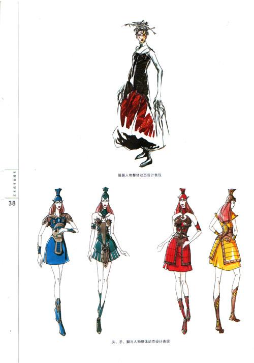 服装廓形o形手绘图