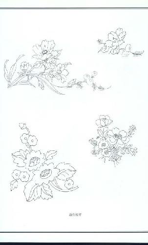 凉亭手绘图黑白