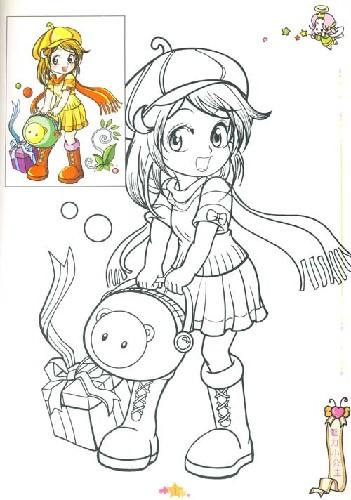 小公主》是小神笔绘画丛-魅力公主填色画 七彩小神笔绘画屋