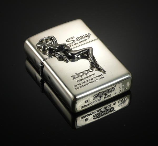 回至zippo 芝宝 打火机 镀银浮雕美女 (礼盒包装)