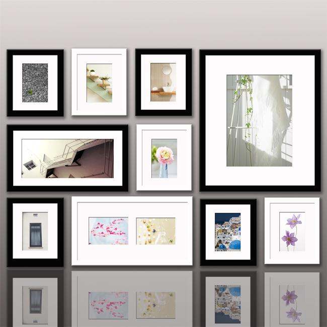 雅视10相框外单实木照片墙组合--黑白混搭10a-5