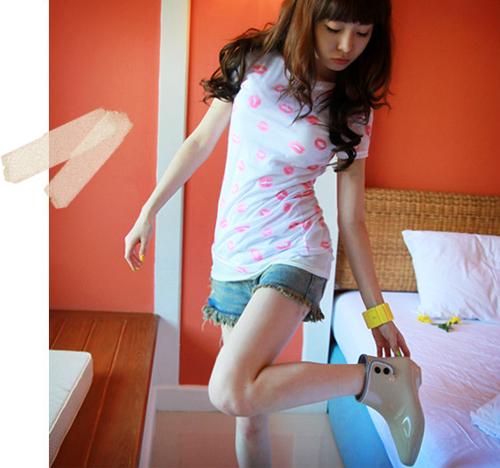 韩款女士米色时尚雨鞋36码