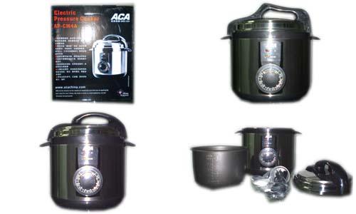 aca压力电饭锅ap-cm4a不锈钢 黑色