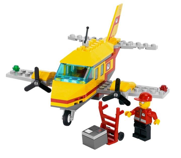 乐高 城市组 邮件运输机7732:亚马逊:玩具
