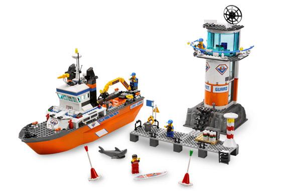 乐高 城市组 海岸瞭望塔及巡逻船7739