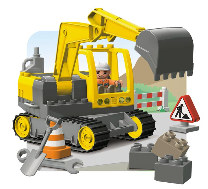 lego挖土机图纸