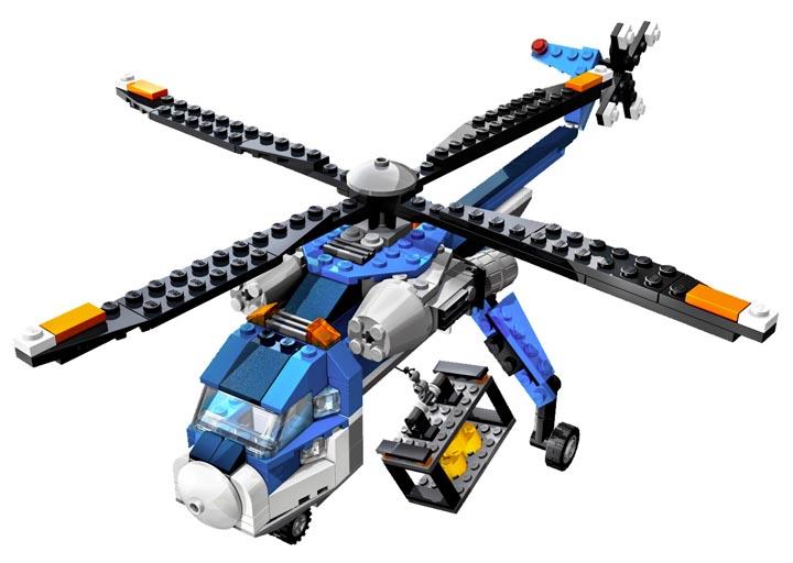 乐高直升机玩具