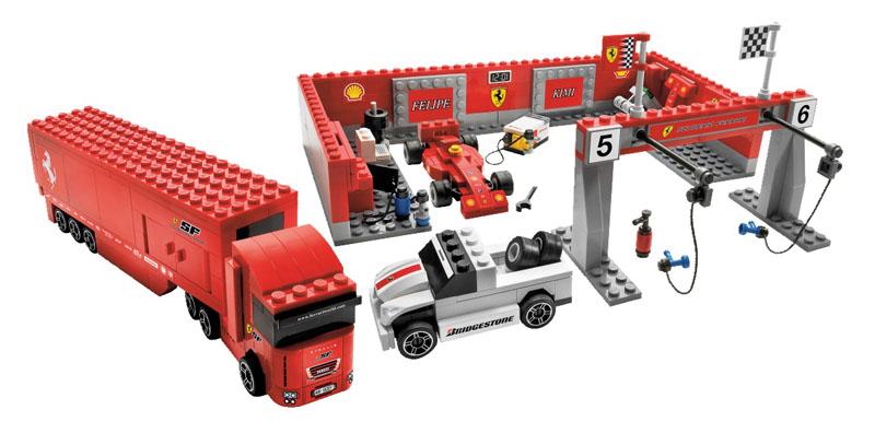 lego 乐高 赛车组 法拉利f1维修站8155