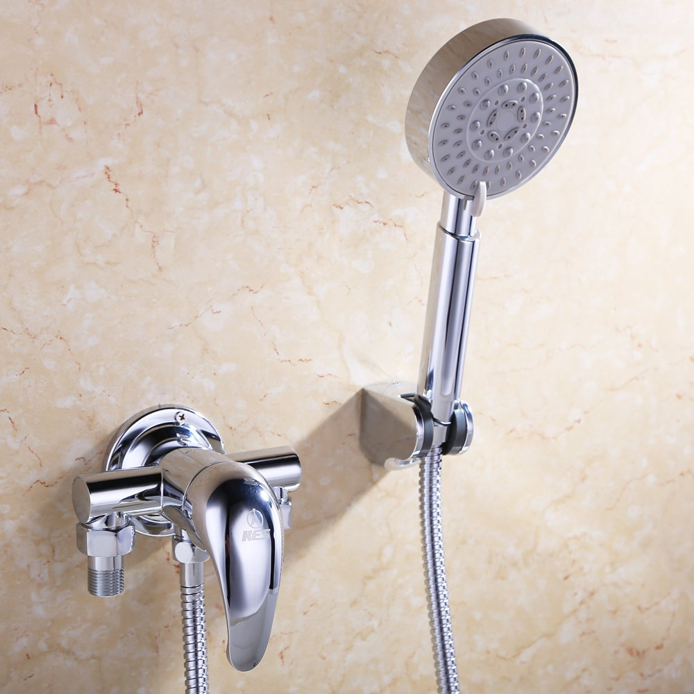 科士力 明装淋浴花洒套装(混水阀,墙座,软管,手持喷头)图片