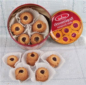 皇室蓝莓酱浇顶黄油曲奇饼干450g 亚马逊中国25.54元
