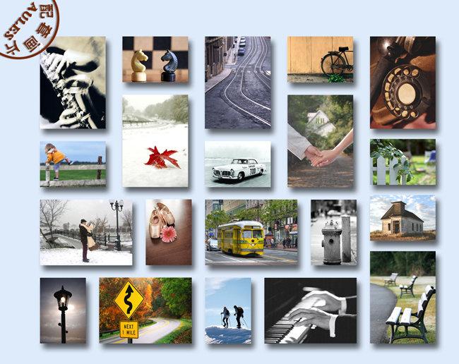 多张图片排列效果图