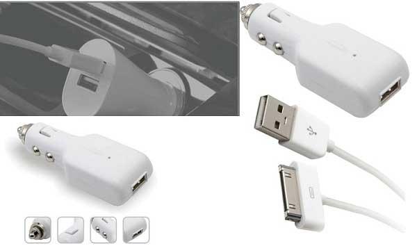 d&s 和宏苹果ipod/iphone汽车充电器hip9205(苹果白,线长1.2米)