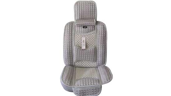 隋塔 高级冰丝凉坐垫 灰色 环保材质,颈枕内含竹炭,后排坐垫为连体高清图片