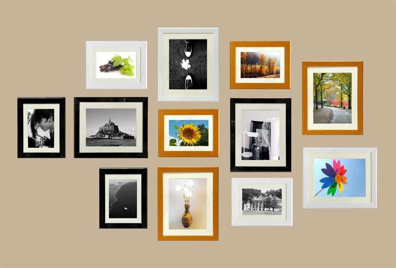 12张照片墙效果图